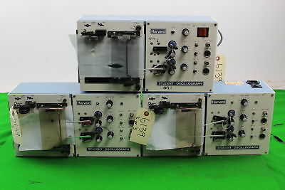Lot of 3 Harvard Student Oscillographs Oscilloscope Laboratory Lab Equipment