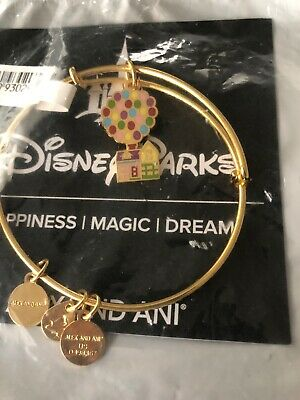Alex and Ani Disney Pixar UP Balloons House Gold Bangle Bracelet Carl Ellie NWT