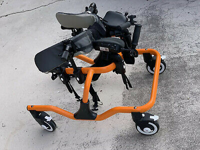 Drive Medical TK 1000 Trekker Gait Trainer, Tyke, Orange With Extras