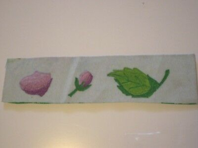 Fabric Painted Floral Bookmark