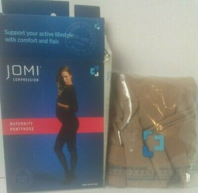 Jomi Compression Maternity Pantyhose Opaque Natural Large 20-30 mmhg Open Box