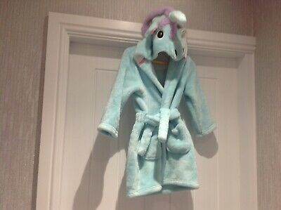 Marks & Spencer Fleece Unicorn Dressing Gown with Hood, age 18-24months