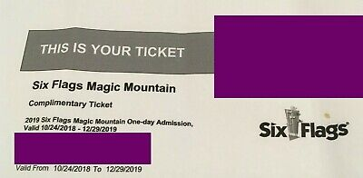 Six Flags Magic Mountain One Day Admission Ticket 2019