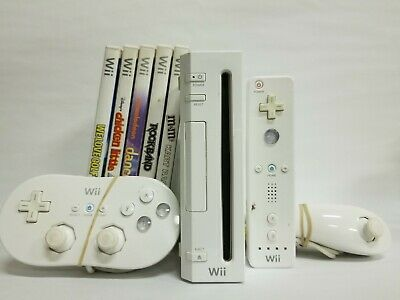 Nintendo Wii Bundle RVL-001 Console with Extras - Great Condition Fast Shipping!