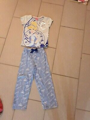 TU Disney Princess Cinderella Blue Short Sleeved Pyjama Set Age 5-6 Years Girls
