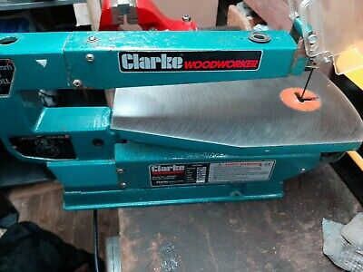 "Clarke Woodworker 400mm(16"") Scroll Saw Fret Saw Bench Saw Good Working Order"
