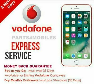 Factory Unlock Service VODAFONE UK For Apple iPhone 7 8  PLUS X XS XS MAX XR 11