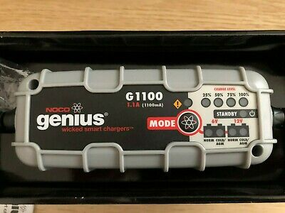 NOCO Genius G1100UK 6V/12V 1.1A UltraSafe Smart Battery Charger