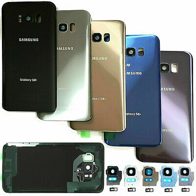 Fr Samsung S7 Edge S8 S9 Plus Replacement Rear Battery Back Glass Cover W/Camera
