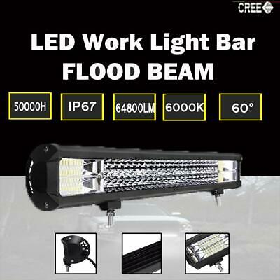 25inch LED Light Bar Rows Spot Flood Combo Work SUV Driving Lamp OffRoad 648W