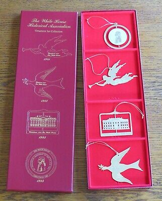 Official 1981-1984 White House Historical Association Christmas Ornament Set