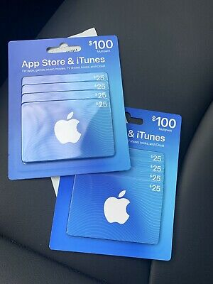 Apple App Store And iTunes Gift Card, $200 (8 $25 Cards)