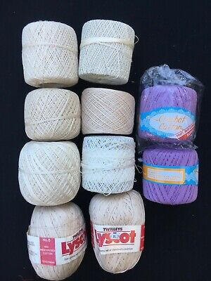Bulk Lot Cotton Crochet Thread Twilleys Lyscot Plus Others