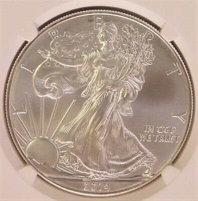 2014 SIlver Eagle 1oz First Releases MS 70 NGC 760B