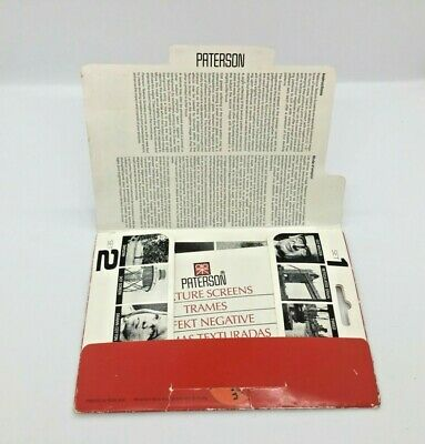 Paterson 35mm Texture Screen Set Of 2 New Old Stock Darkroom Equipment