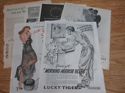 LOT of 7 VINTAGE SHAVING PRINT ADS - REMINGTON NORELCO  (A28) - free shipping