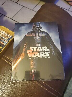 Authentic Star Wars: The Complete Saga Blu-ray Disc 2011 9-Disc Set 6 New Sealed
