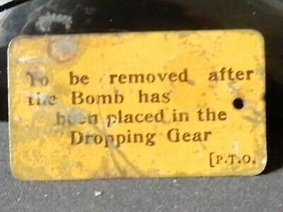 War Metal Bomb Pin Label 45 Mm X 25 Mm Collectables