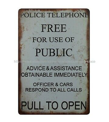Police Telephone Free For Use Of Public metal tin sign reproductions