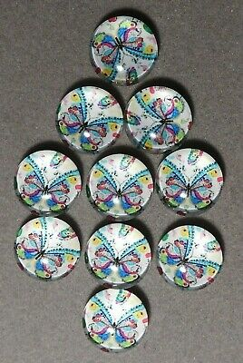 10 x 12 mm 'BUTTERFLY' Flat backed Acrylic Cabochons      (E457)