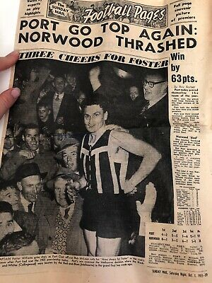 Port Adelaide Football Pages Newspaper 1955 Rare AFL