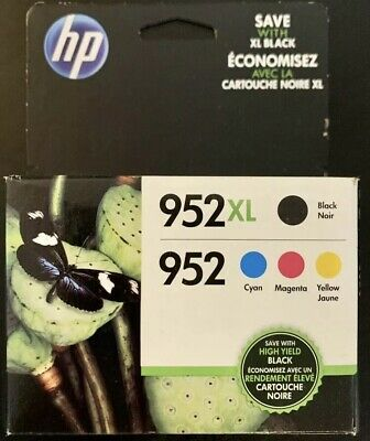 HP 952XL Black & 952 Color Ink Combo Pack of 4-
