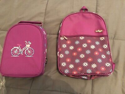 Smiggle Backpack Purple Girls School Bag Rucksack cats kittens pattern