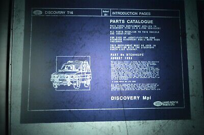 MICROFICHE Land Rover DISCOVERY 2.0MPI SUPPLEMENT