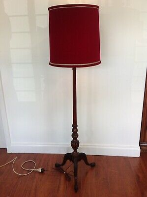 Antique Standard Lamp With Red Shed
