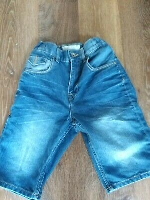 Matalan Girls' Blue Cropped Jeans Shorts 11 Years