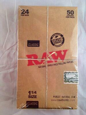 """Free Gifts🎁If U Buy Authentic RAW Classic 1 1/4"""" Rolling Papers 24 Packs Of 50"""
