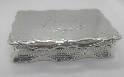 1876 Solid Silver/Silver Gilt Hilliard and Thomason Snuff Box