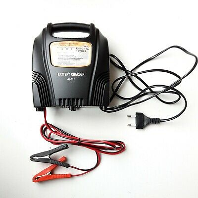 Heavy Duty Plastic Case Car Battery Charger Professional Lorry 4 A 12 Volt