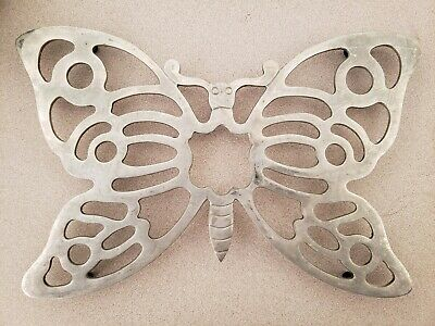 """Trivet Butterfly 11"""" x 7"""" FB Rogers Italy Silver EP Zinc"""