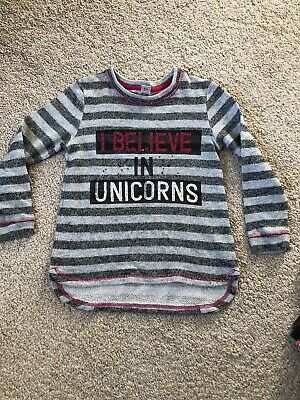 Girls Age 6 Years Unicorn Sparkly Jumper Excellent Condition