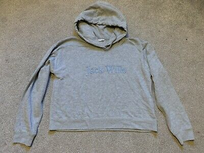 Girls / Women's Jack Wills Hoody Top. Size 12. Navy. Grey Twice! FREE SHIPPING!!