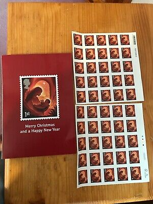 Christms Royal Mail Staff 50 First Class Stamps With Christmas Card
