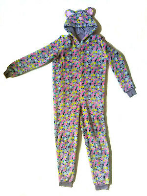 Girls One-piece with Colourful Cat Character Design, M&S, Size 13-14