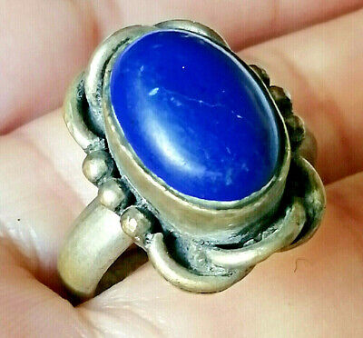 Ancient Medieval Vintage Silver RING AMAZING With Stone Gorgeous piece