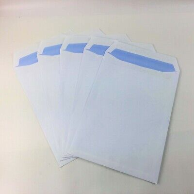 C4/A4(324mmx229mm) White Plain Self Seal Envelopes All Qty's Peel & Seal 90gsm