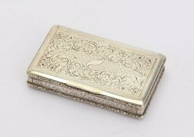 Rare Austrian / Czech 19th century silver snuff box, Prague 1840 / 60, engraved