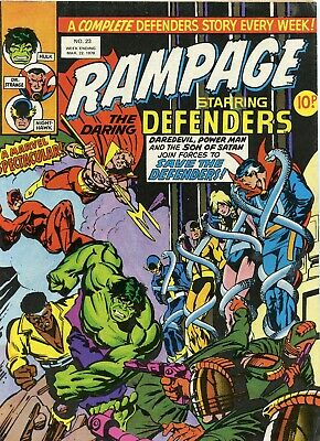 Marvel comics Rampage No 23 week ending 22nd march 1978