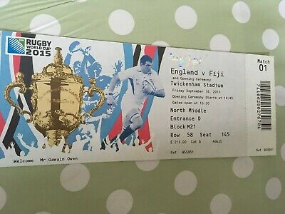England vs. Fiji 2015 Rugby World Cup ticket