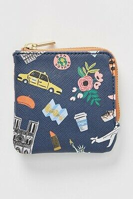 Rifle Paper Co. for Anthropologie Travel Icons Coin Pouch