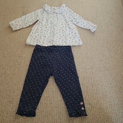 Baby Girls Long Sleeve Top MOTHERCARE And Leggings NEXT Size 6-9 Months