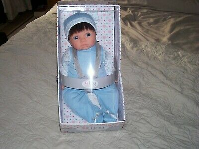 Chad Valley Tiny Treasures boy Doll With a Realistic Smell and Blue Outfit