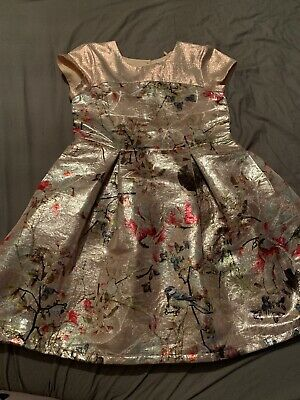 Pink Flower Girls Next Party Dress Age 8 Years