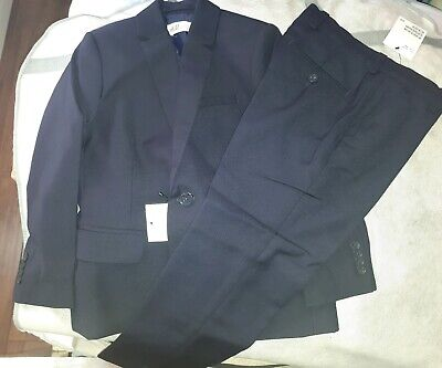 New H&M  boys age 4 to 5 Navy suit machine washable