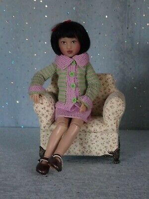 "AllforDoll OOAK DIORAMA Furniture CHAIR for 12"" - Kish Barbie Fashion Royalty"