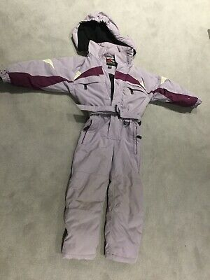 Girls TRESPASS Light Purple Puddlesuit / Snowsuit / Padded Age 5 - 6 Years